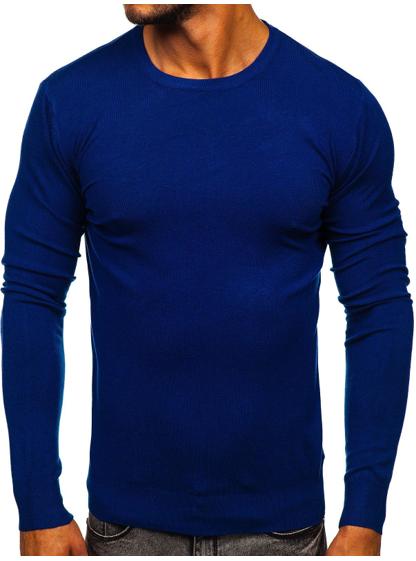 niebieski klasyczny sweter
