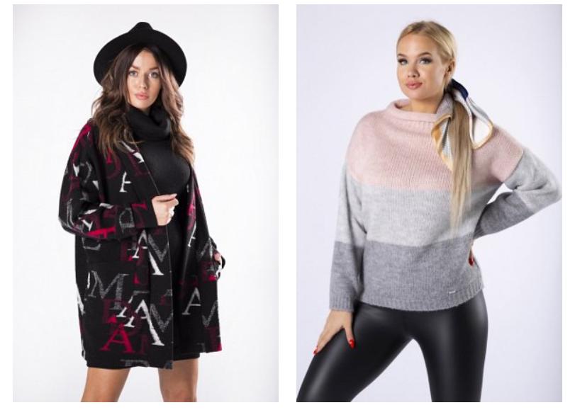 swetry damskie wzory