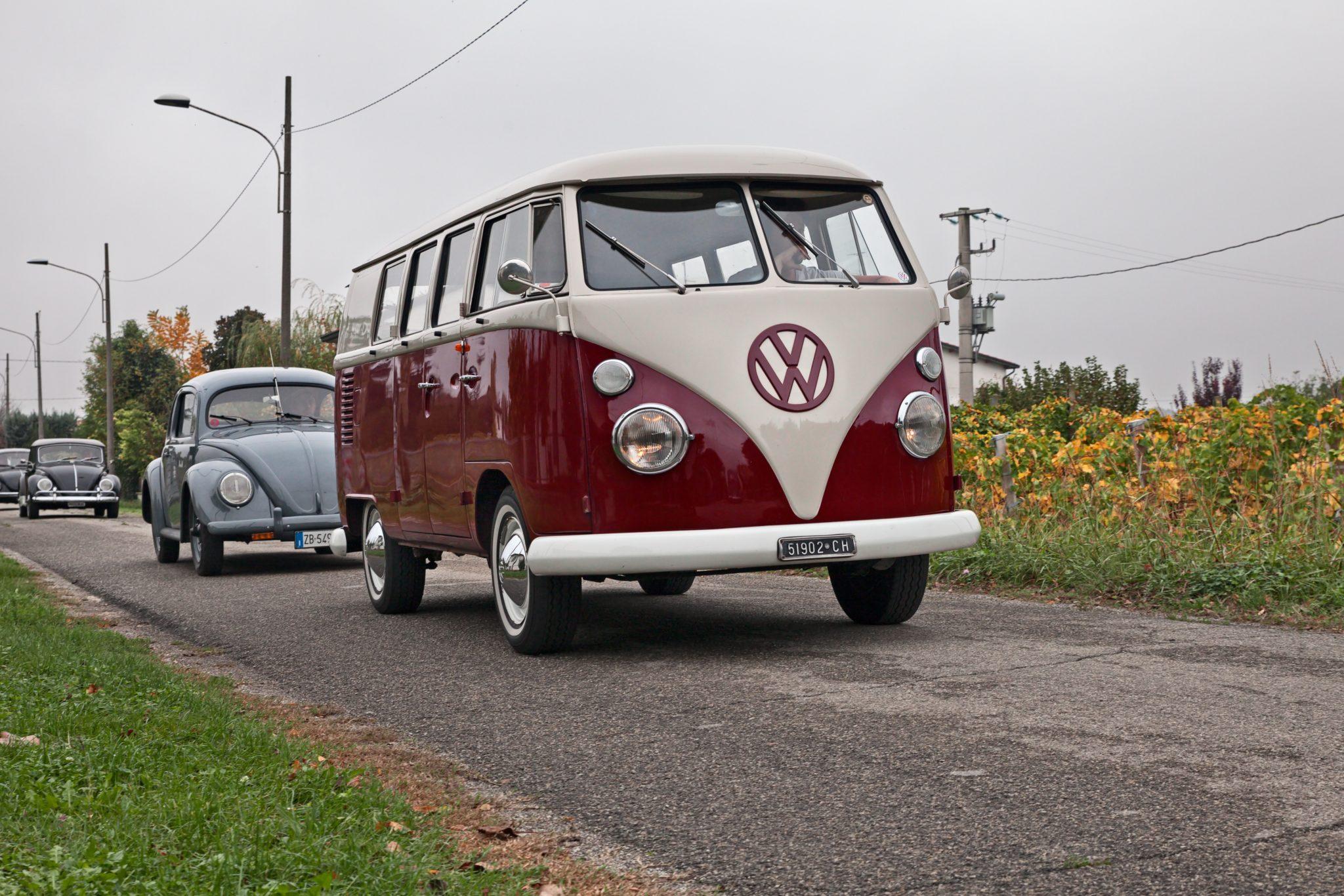 Volkswagen Transporter Typ 2 T1 na trasie