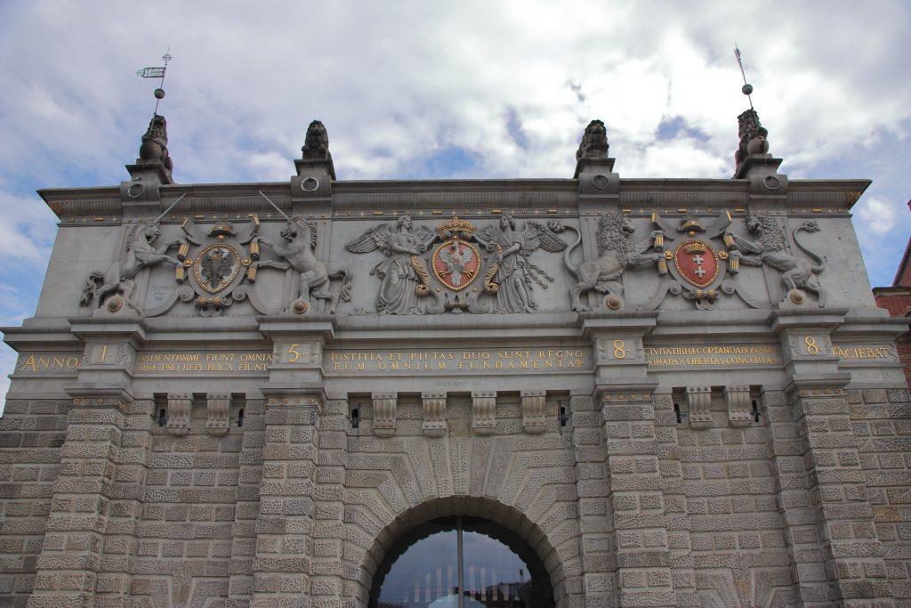 Gdańsk (Polska) - renesansowa brama miejsca zwana Bramą Wyżynną, wybudowana w 1575 roku.