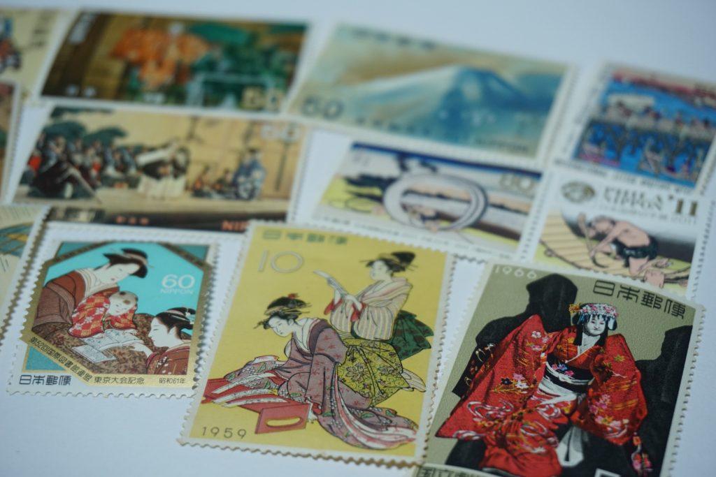 japońskie znaczki pocztowe
