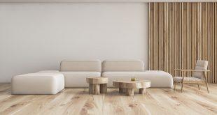 minimalistyczny narożnik i fotel