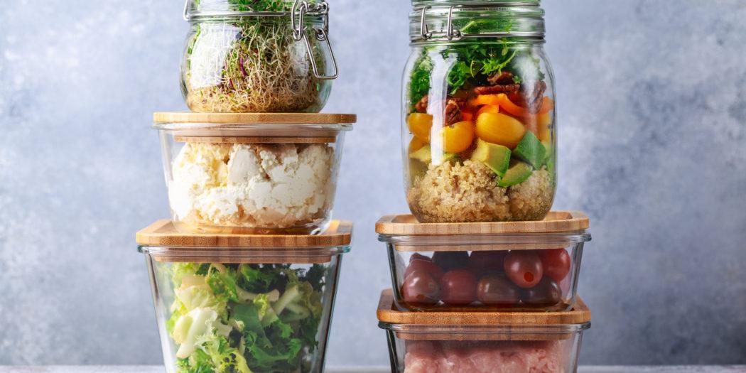 szklane pudełka do przechowywania żywności