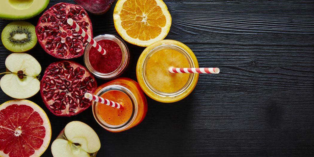 wyciśnięte soki warzywno owocowe