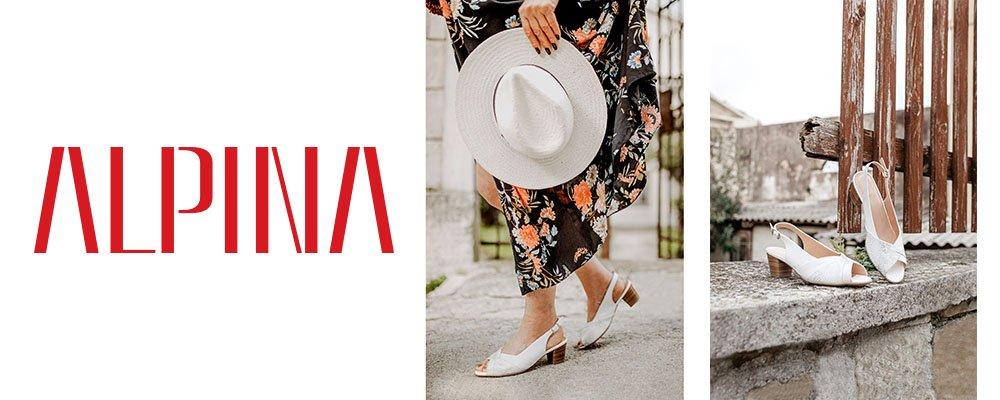 Wygodne obuwie zdrowotne marki Alpina w białym kolorze dostępne w sprzedaży w sklepie Butydowkładek