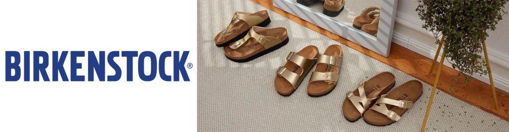 Wygodne obuwie zdrowotne marki Birkenstock w brązowym kolorze dostępne w sprzedaży w sklepie Butydowkładek