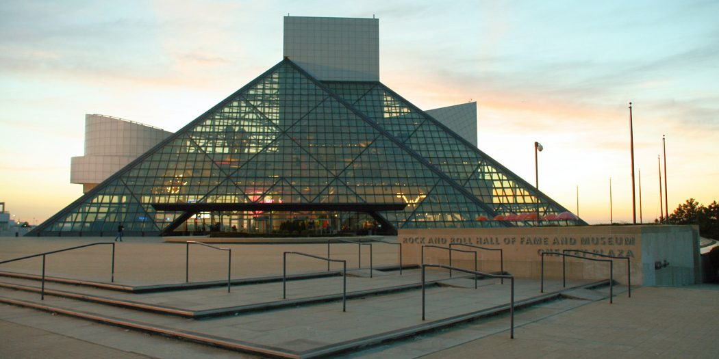 Rock and roll hall of fame-sunset