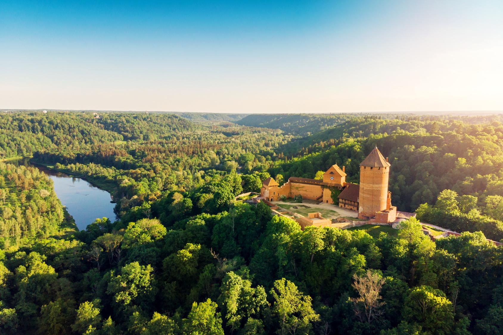 Turaida zamek na Łotwie