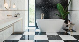 Płytki marmurowe w eleganckiej łazience