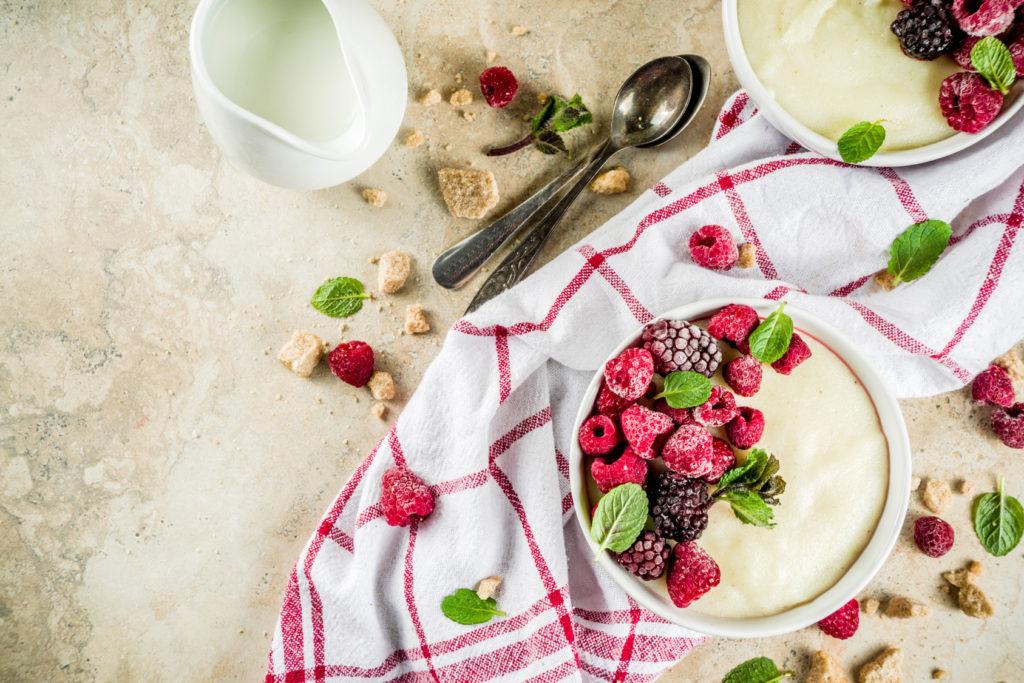 kasza manna na śniadanie dla dorosłych