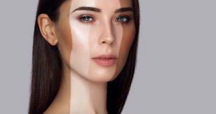 różne tony podkładu na twarzy kobiety