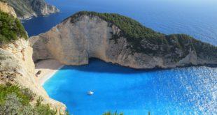 Niebieska woda i plaża
