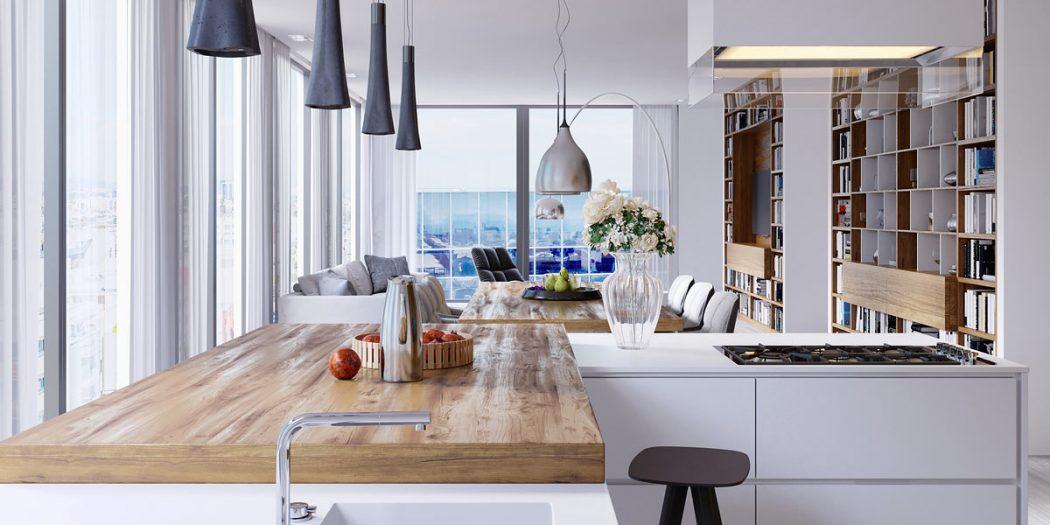 okna narożne w kuchni