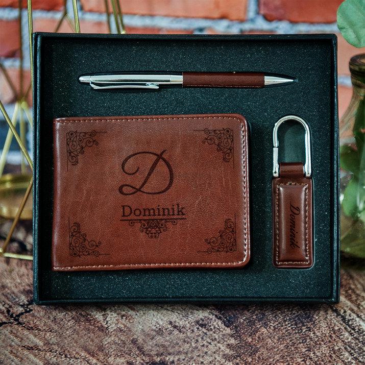 personalizowany zestaw z portfelem