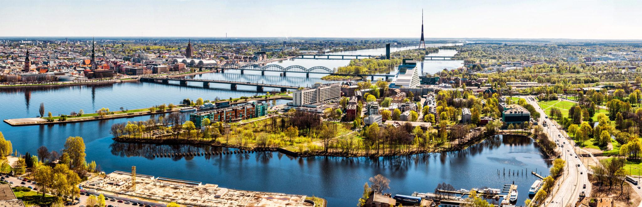 Ryga panorama miasta