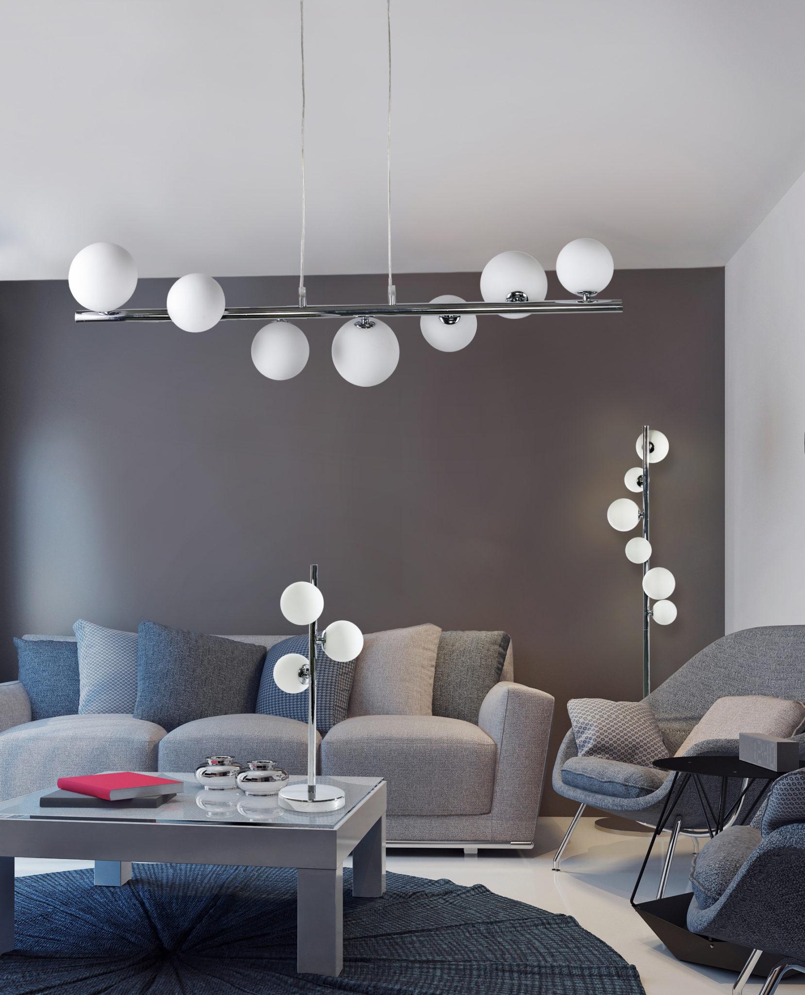 oświetlenie w salonie lampy