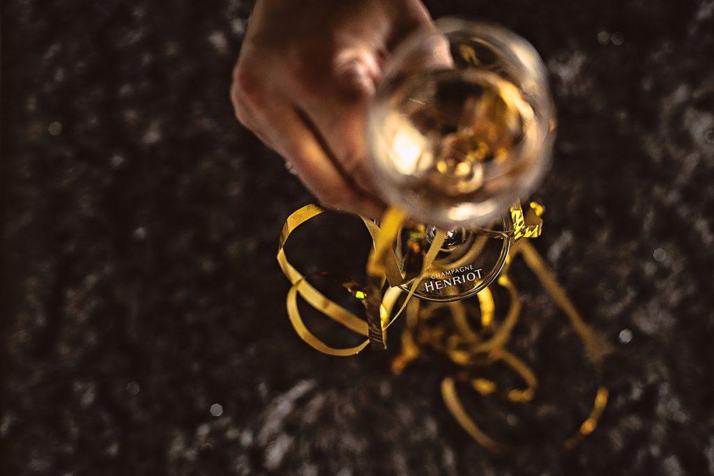 sylwester kieliszek szampana