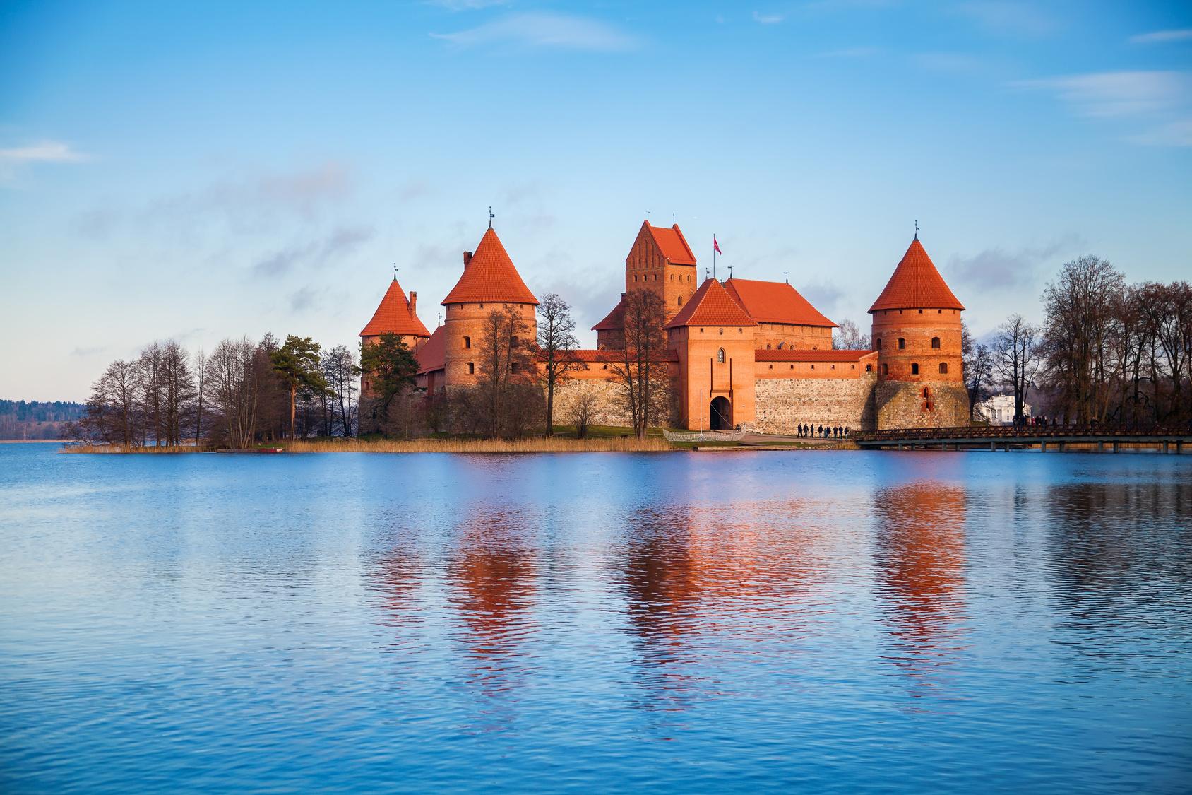 Troki - zamek na Litwie