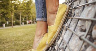 żółte espadryle damskie