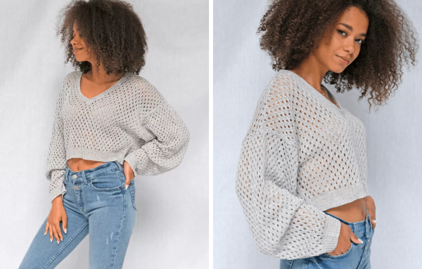 kobieta w swetrze