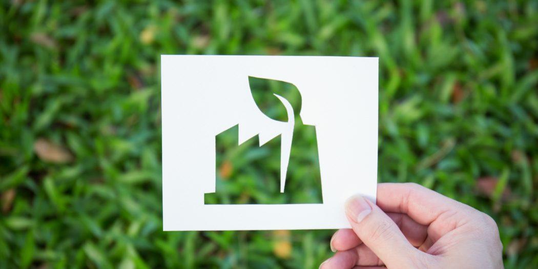 ilustracja firma produkcyjna w duchu ekologii