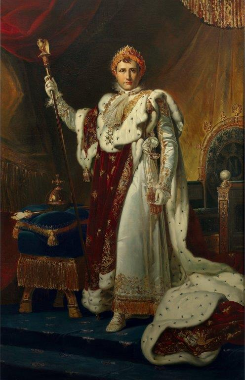 Pracownia François Pascala Simona Gérarda Napoleon I w stroju koronacyjnym olej na płótnie Fontainebleau Musée national du château