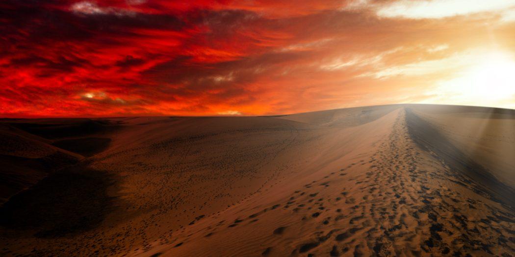 Diuna wizualizacja pustynia