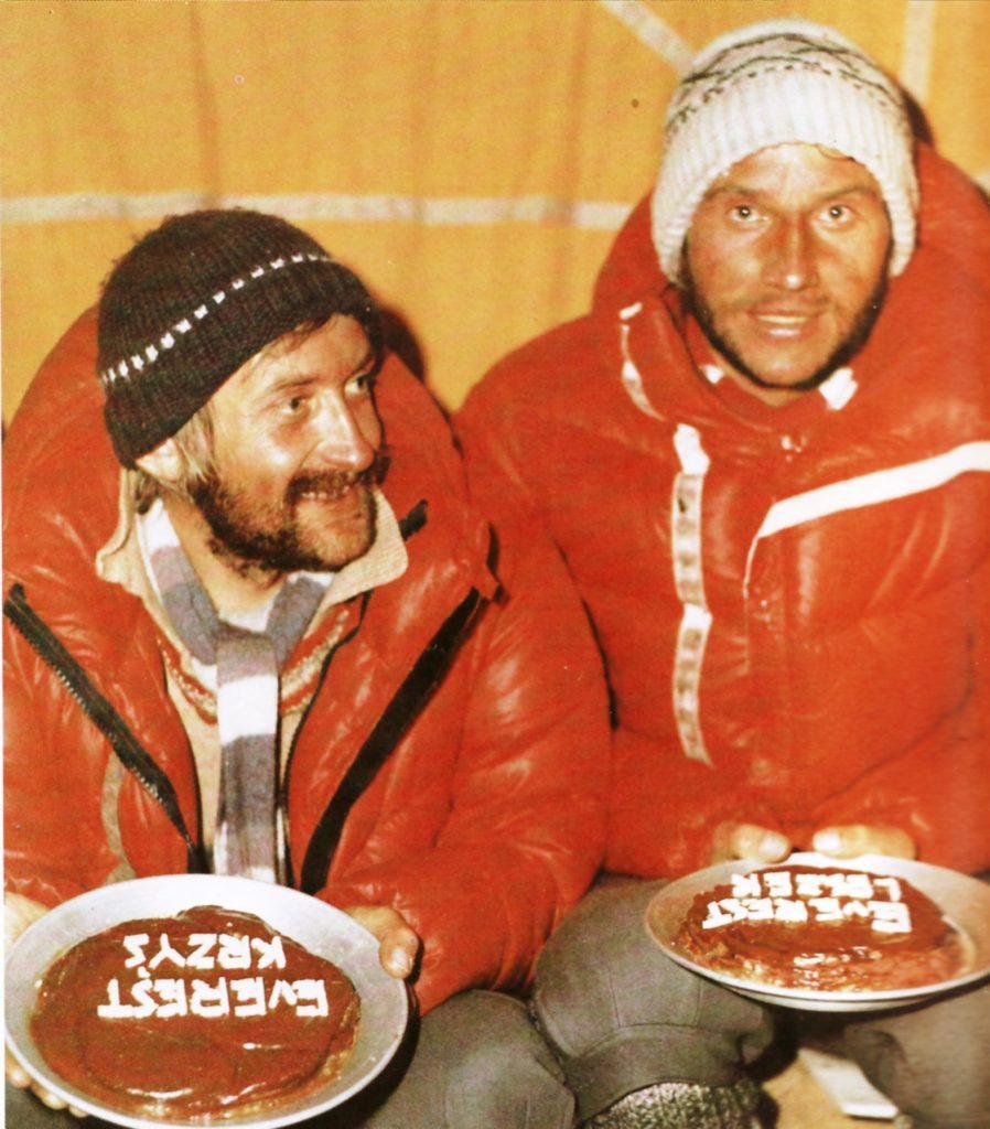 Wielicki i Cichy po zdobyciu Everestu zimą 1980