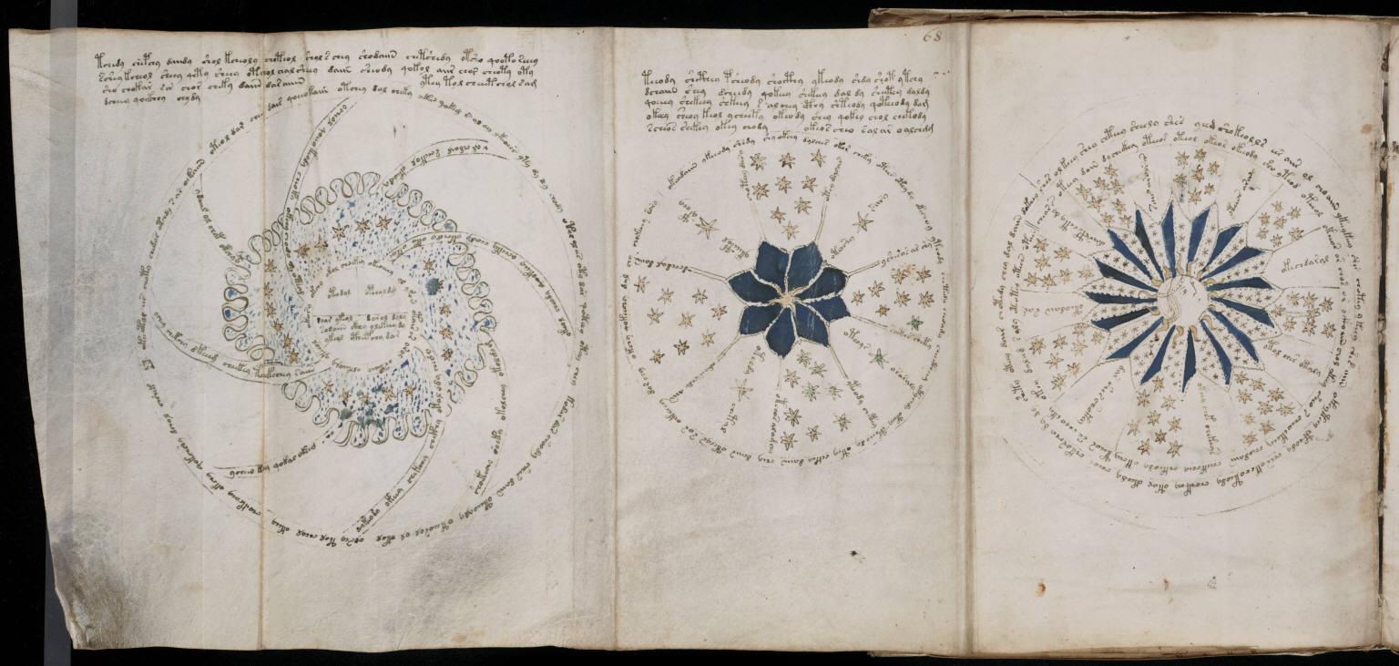 Manuskrypt Wojnicza obiekty astronomiczne