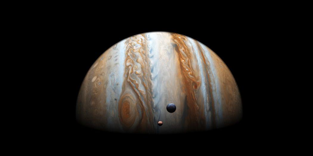 Jowisz widok na planetę