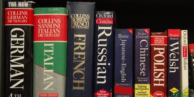 Słowniki na półce
