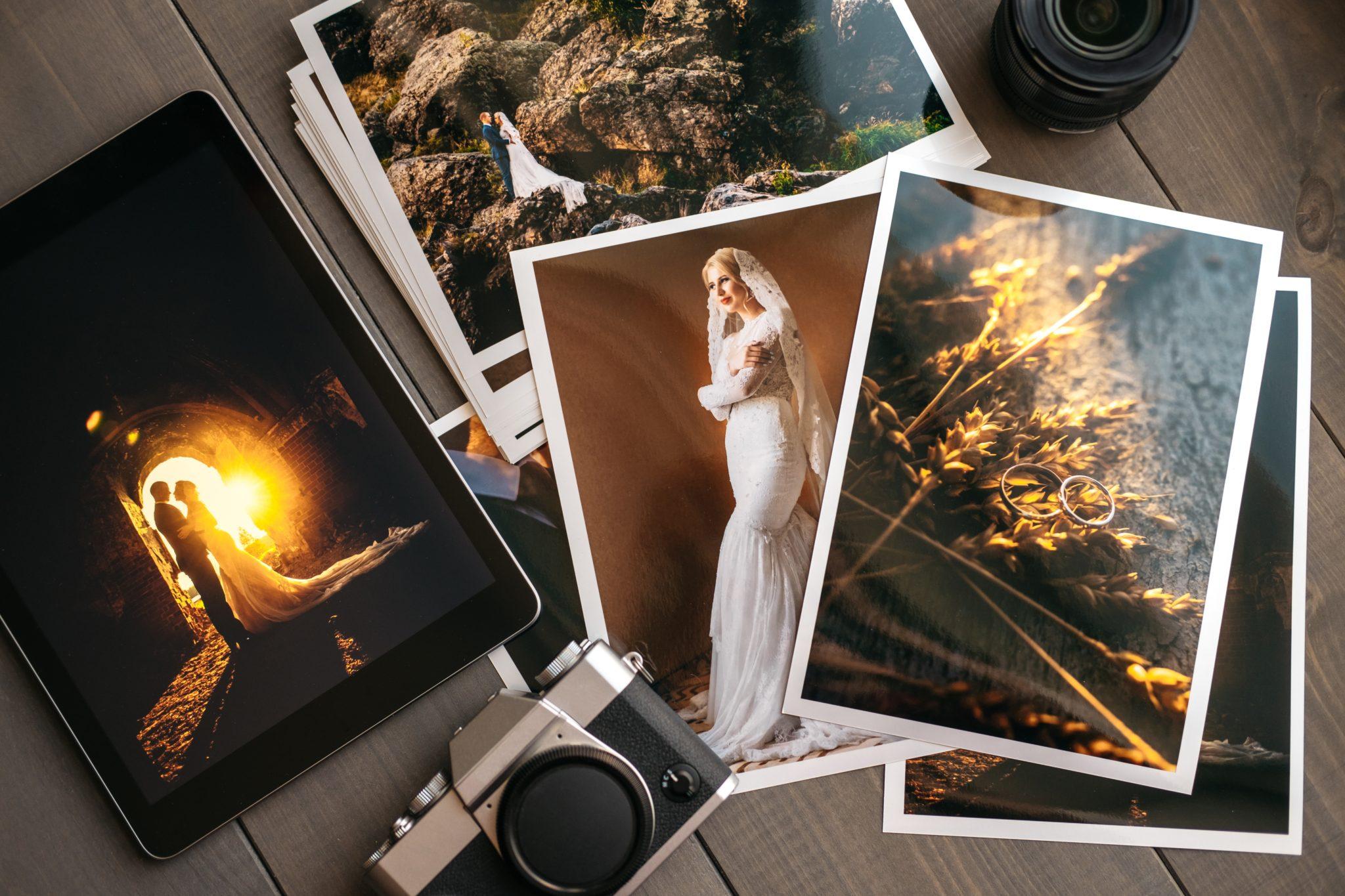 Dużo zdjęć ślubnych