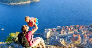 Rodzina na wakacjach w Europie