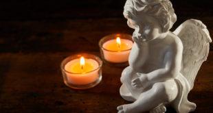 Aniołek i dwie świeczki
