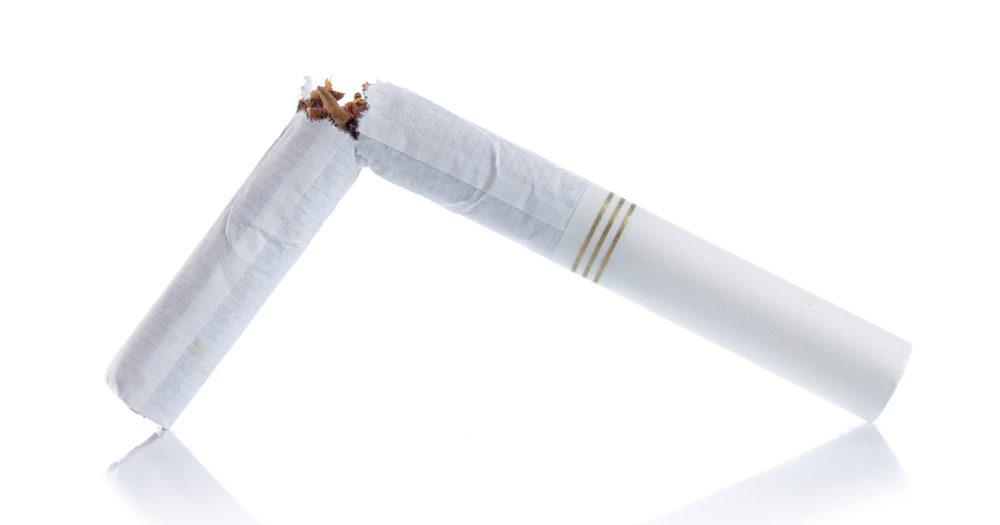 złamany papieros mentolowy