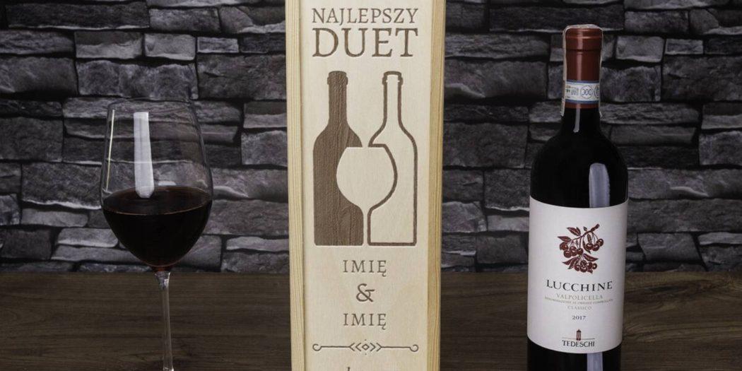 prezentowy zestaw wina