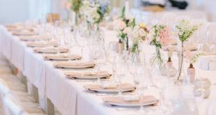 Wesele - nakryty stół