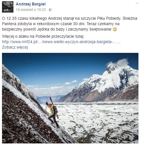 Andrzej Bargiel Śnieżna Pantera