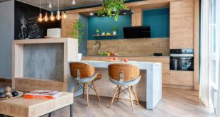 loftowa nowoczesna kuchni