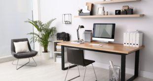 nowoczesne miejsce do pracy blat biurko