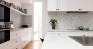 Szara mozaika w kuchni