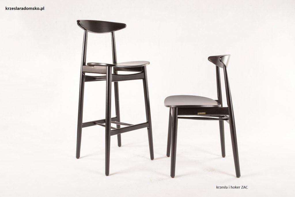 Krzesła barowe do designerskiej kuchni ZAC