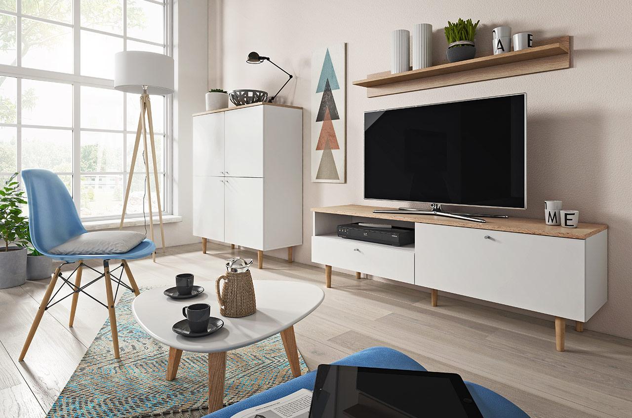 Minimalistyczny salon w stylu skandynawskim