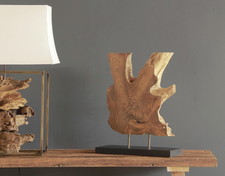 Lampa i dekoracja z korzenia