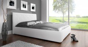 BIało-szare łóżko