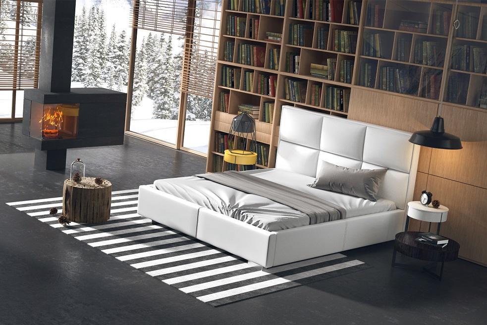 Łóżko tapicerowane w nowoczesnym wydaniu