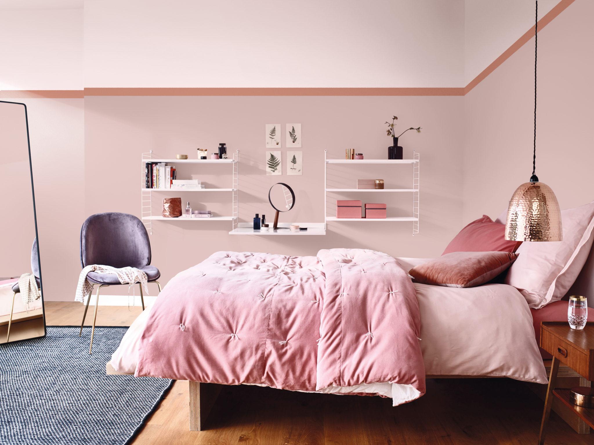 Odcienie różowego w sypialni