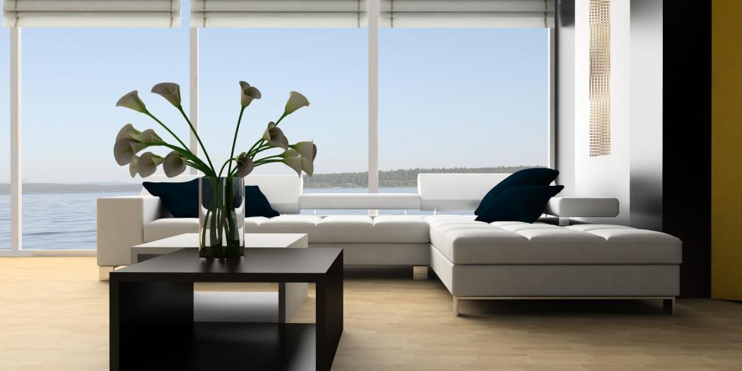 Nowoczesne okna z pięknym widokiem
