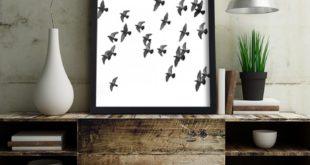 Ptaki w locie - plakat