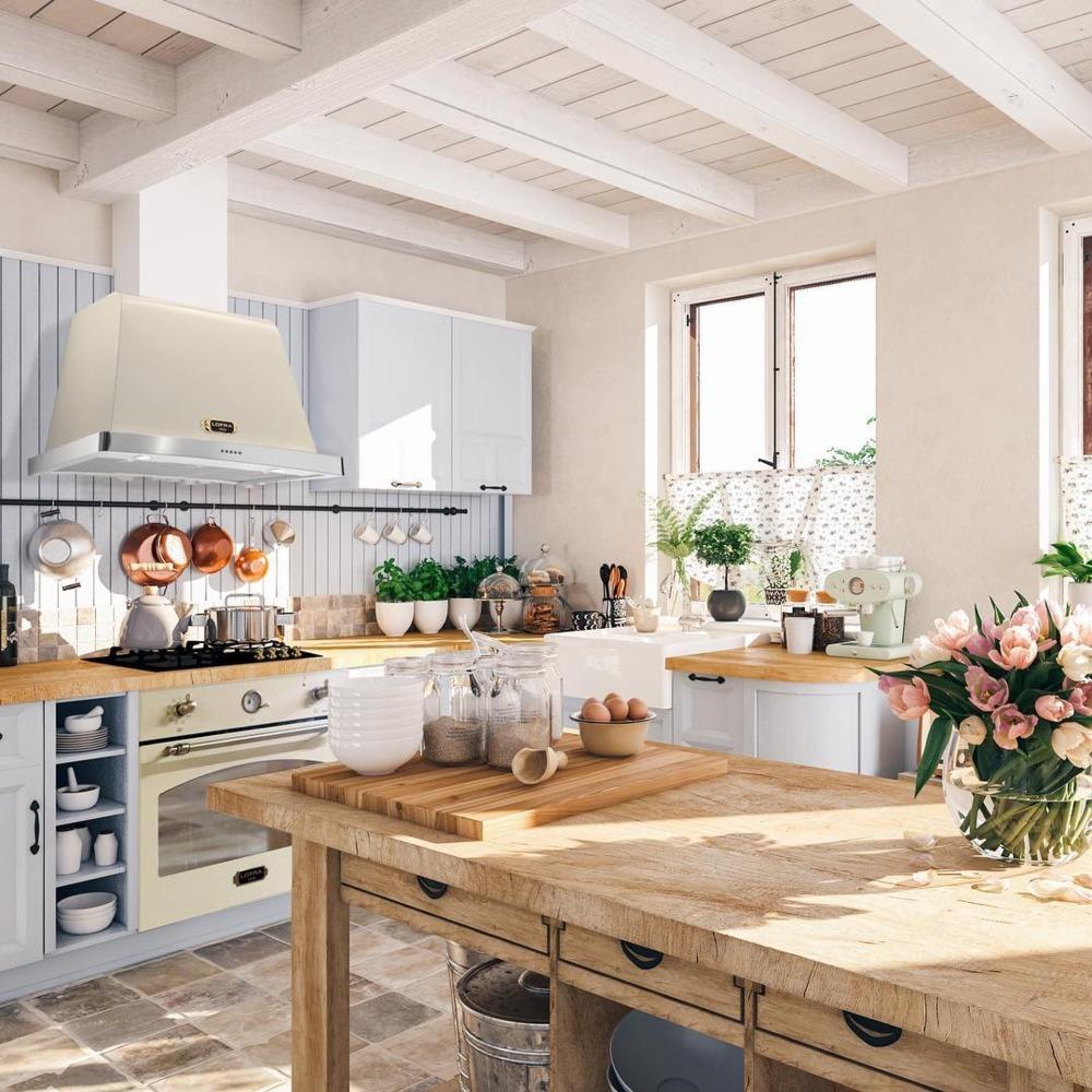 rustykalna kuchnia retro